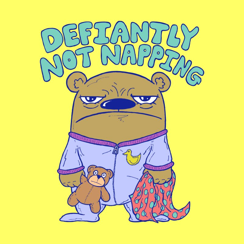 Defiantly Not Napping Kids Baby Bodysuit by P. Calavara's Artist Shop