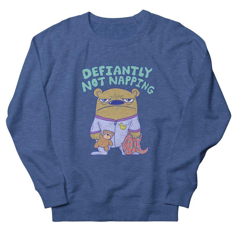 Defiantly Not Napping Men's Sweatshirt by P. Calavara's Artist Shop