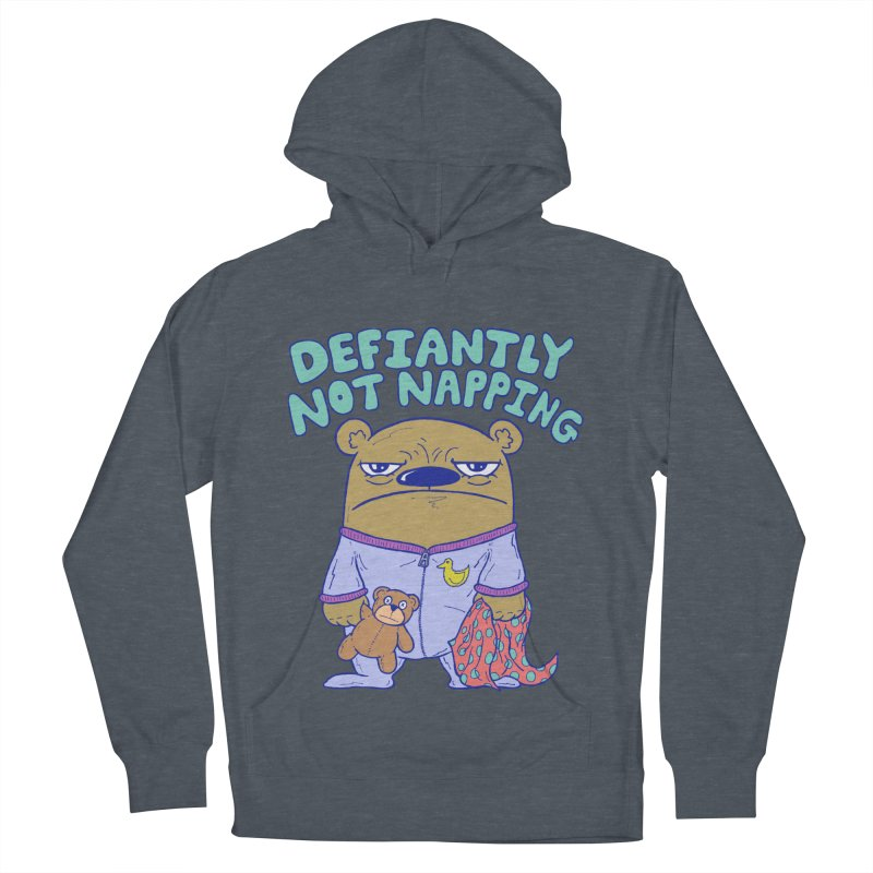 Defiantly Not Napping Women's French Terry Pullover Hoody by P. Calavara's Artist Shop