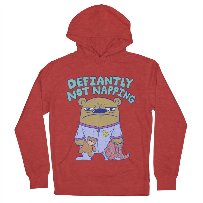 Defiantly Not Napping Men's French Terry Pullover Hoody by P. Calavara's Artist Shop