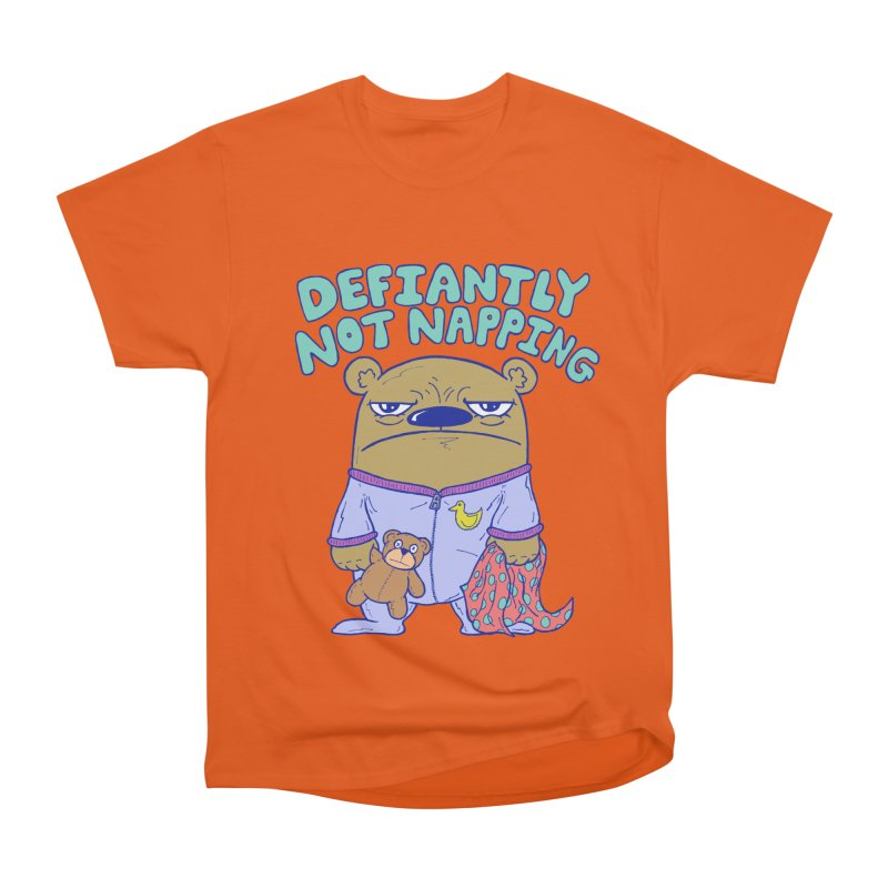 Defiantly Not Napping Men's Heavyweight T-Shirt by P. Calavara's Artist Shop