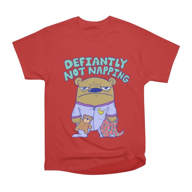 Defiantly Not Napping Women's Heavyweight Unisex T-Shirt by P. Calavara's Artist Shop