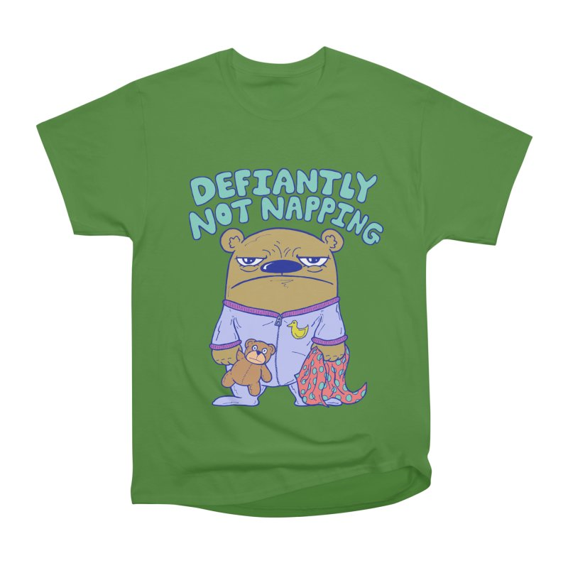 Defiantly Not Napping Men's Classic T-Shirt by P. Calavara's Artist Shop