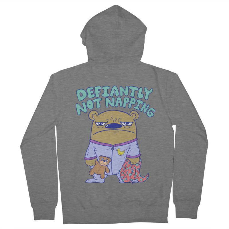 Defiantly Not Napping Women's French Terry Zip-Up Hoody by P. Calavara's Artist Shop