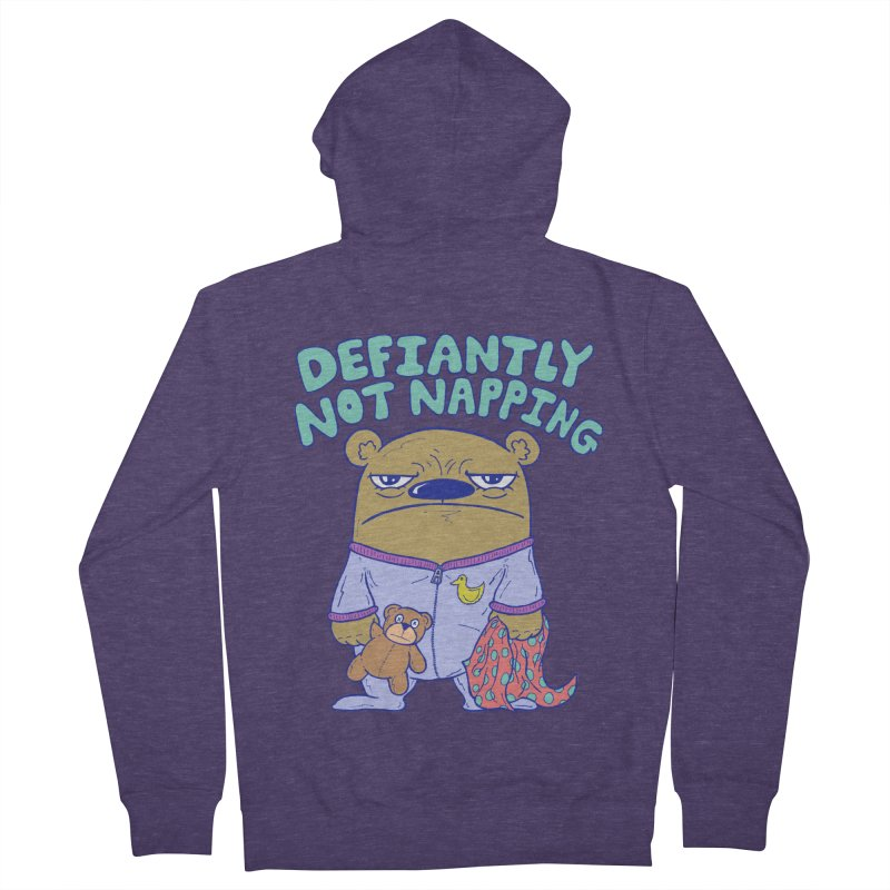 Defiantly Not Napping Men's Zip-Up Hoody by P. Calavara's Artist Shop