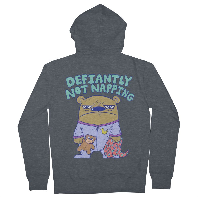 Defiantly Not Napping Men's French Terry Zip-Up Hoody by P. Calavara's Artist Shop