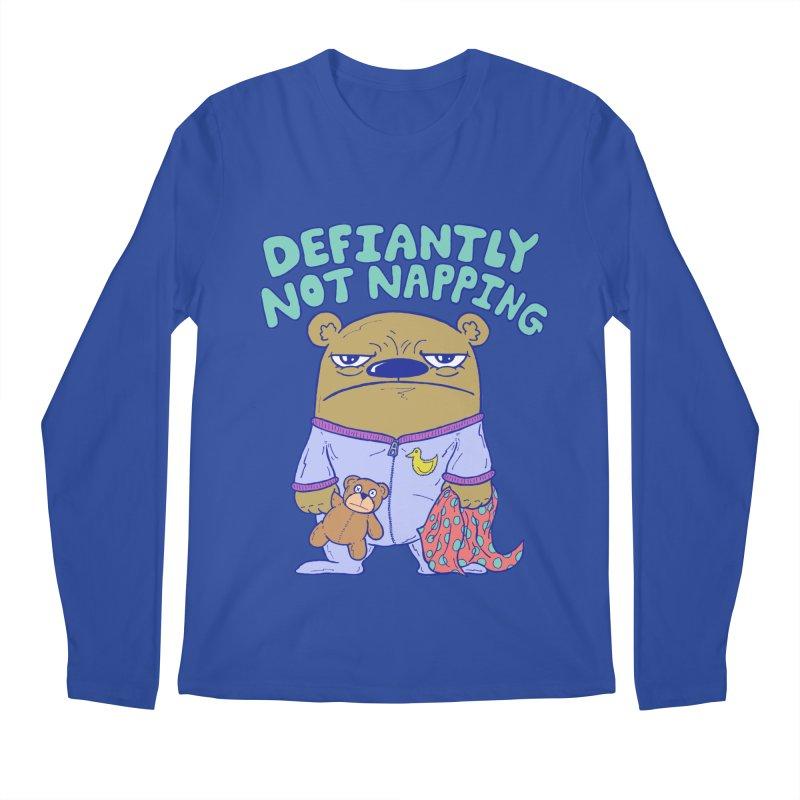 Defiantly Not Napping Men's Regular Longsleeve T-Shirt by P. Calavara's Artist Shop
