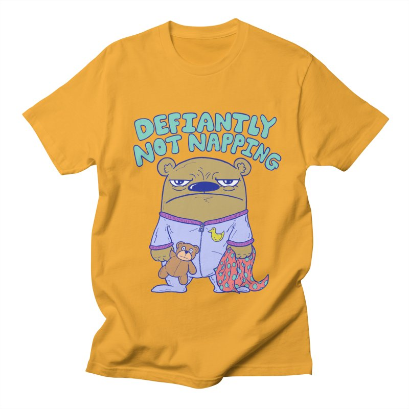 Defiantly Not Napping Men's T-Shirt by P. Calavara's Artist Shop