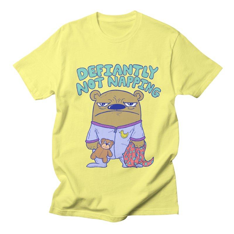 Defiantly Not Napping Women's Regular Unisex T-Shirt by P. Calavara's Artist Shop