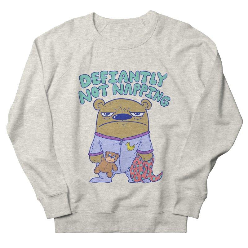 Defiantly Not Napping Women's Sweatshirt by P. Calavara's Artist Shop
