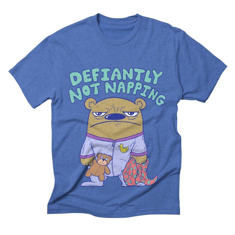 Defiantly Not Napping Men's Triblend T-shirt by P. Calavara's Artist Shop