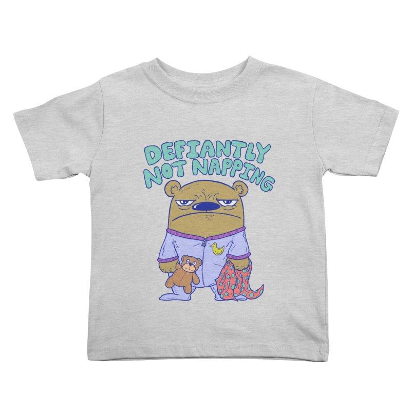 Defiantly Not Napping Kids Toddler T-Shirt by P. Calavara's Artist Shop