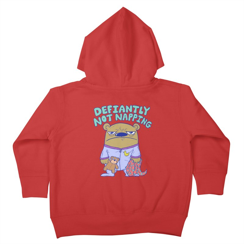 Defiantly Not Napping Kids Toddler Zip-Up Hoody by P. Calavara's Artist Shop