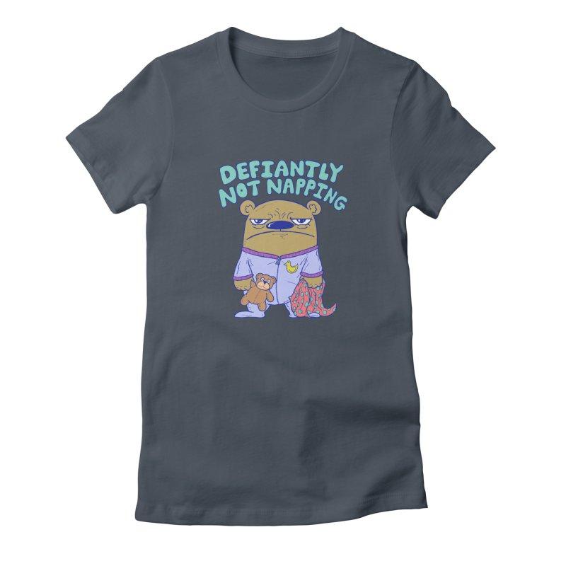 Defiantly Not Napping Women's T-Shirt by P. Calavara's Artist Shop