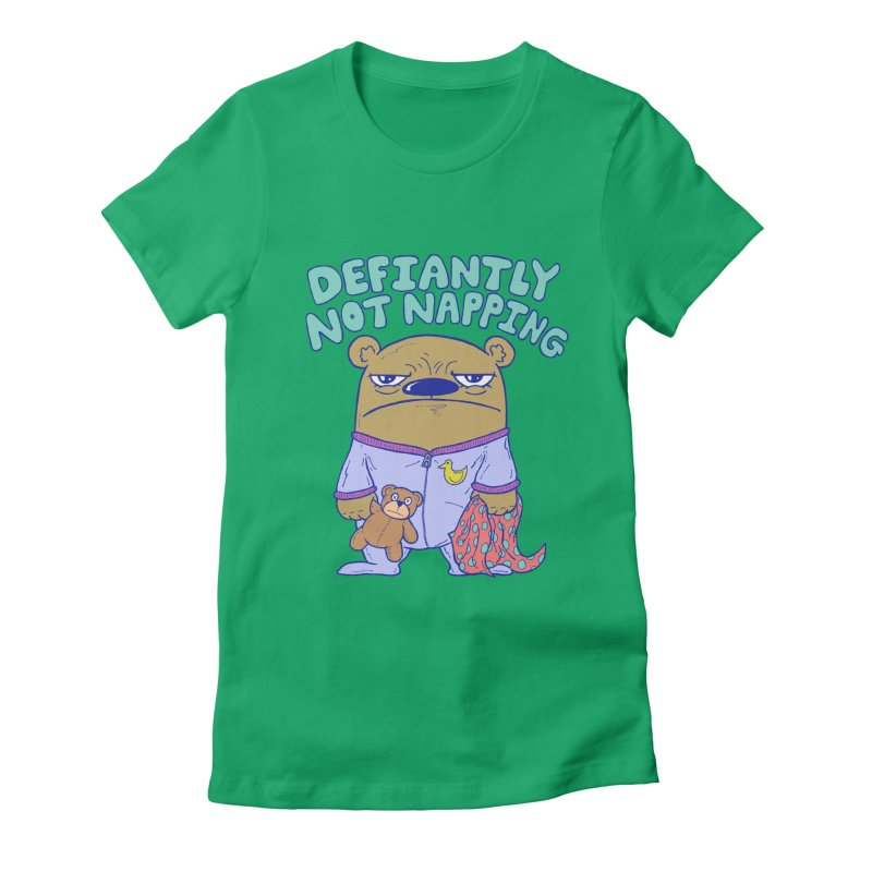 Defiantly Not Napping Women's Fitted T-Shirt by P. Calavara's Artist Shop