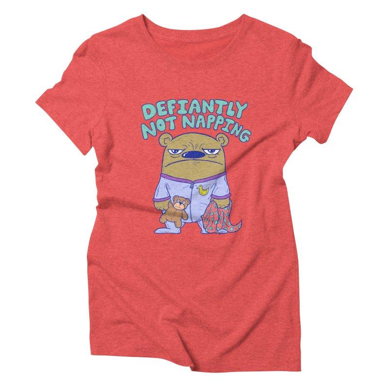 Defiantly Not Napping Women's Triblend T-Shirt by P. Calavara's Artist Shop