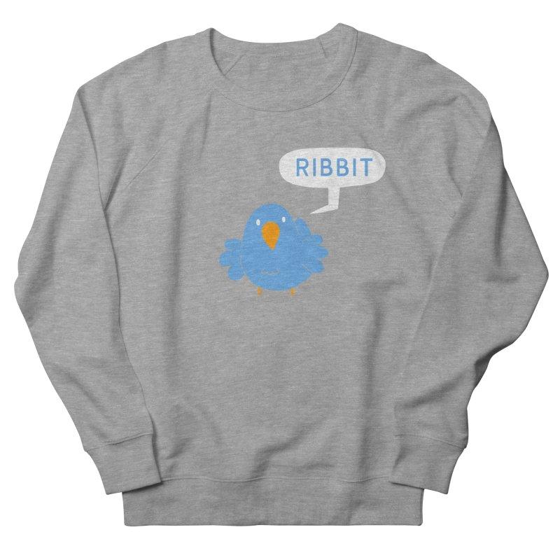 Ribbit Men's French Terry Sweatshirt by P. Calavara's Artist Shop