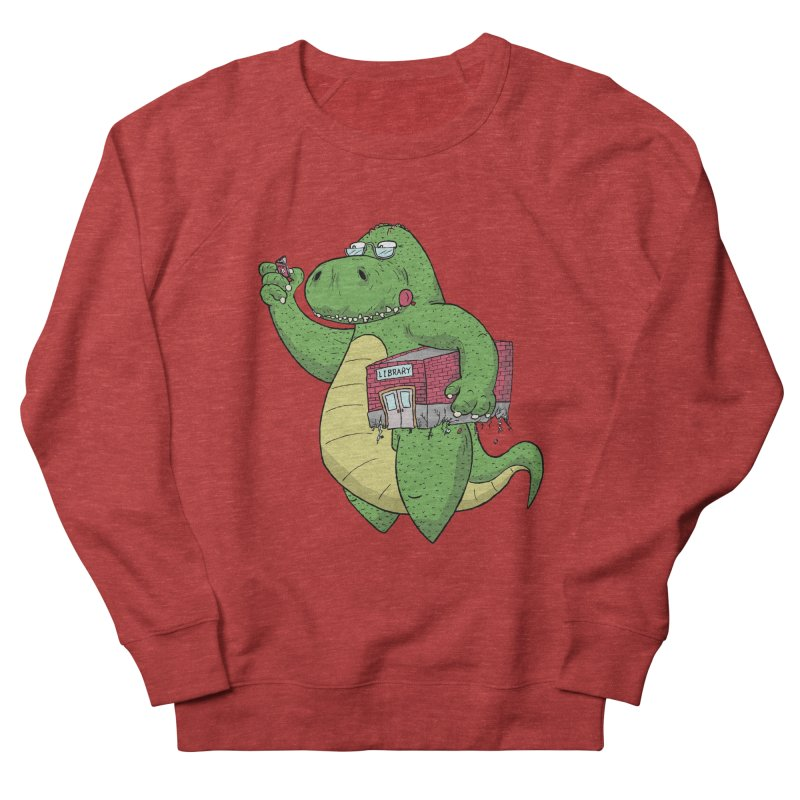 Support Your Local Library Men's French Terry Sweatshirt by P. Calavara's Artist Shop
