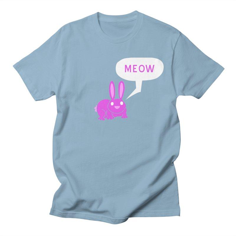 Meow Men's Regular T-Shirt by P. Calavara's Artist Shop