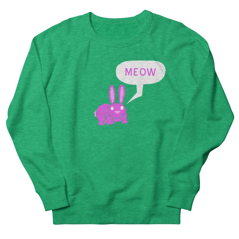 Meow Men's French Terry Sweatshirt by P. Calavara's Artist Shop