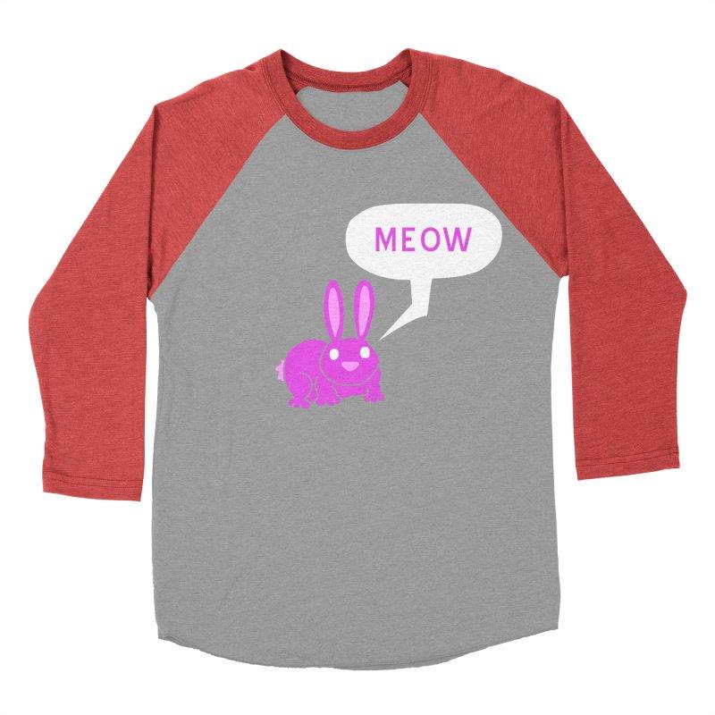 Meow Women's Baseball Triblend Longsleeve T-Shirt by P. Calavara's Artist Shop