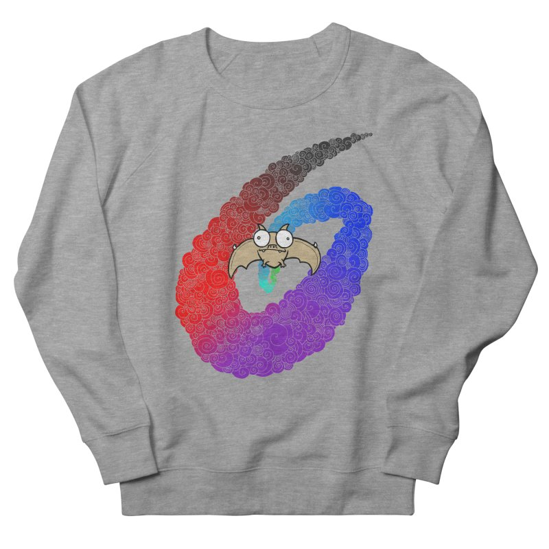 Bat Men's French Terry Sweatshirt by P. Calavara's Artist Shop