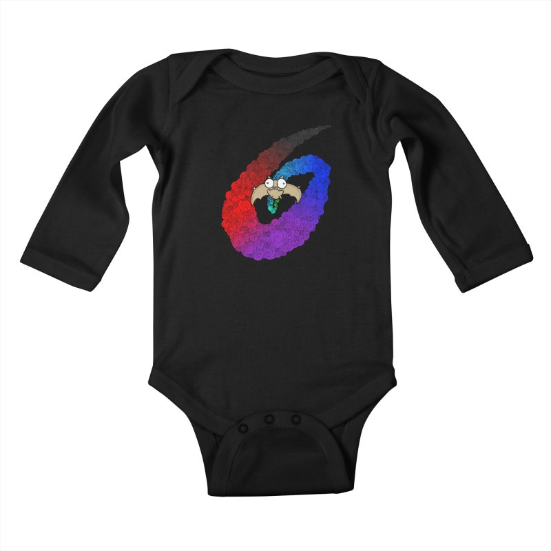 Bat Kids Baby Longsleeve Bodysuit by P. Calavara's Artist Shop