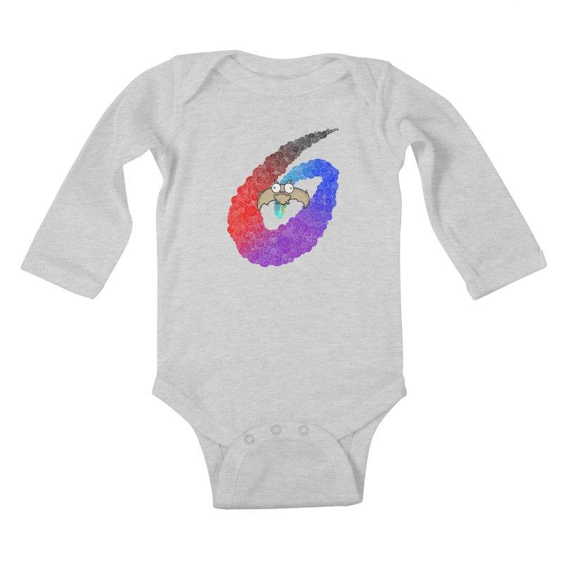 Bat Kids Baby Longsleeve Bodysuit by P. Calavara's Artist Shop