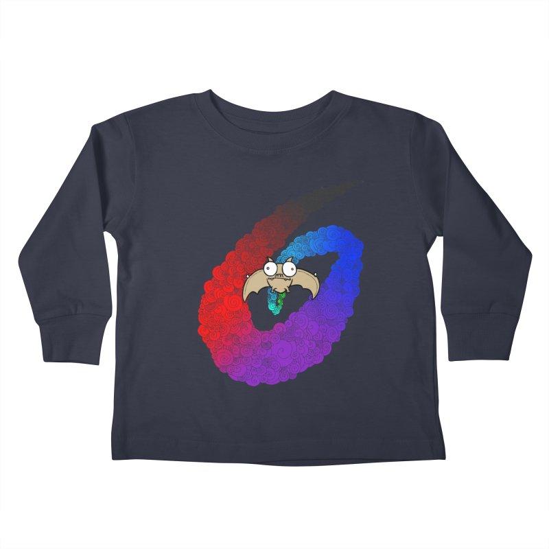 Bat Kids Toddler Longsleeve T-Shirt by P. Calavara's Artist Shop