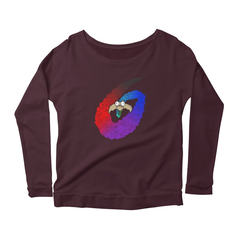 Bat Women's Longsleeve T-Shirt by P. Calavara's Artist Shop