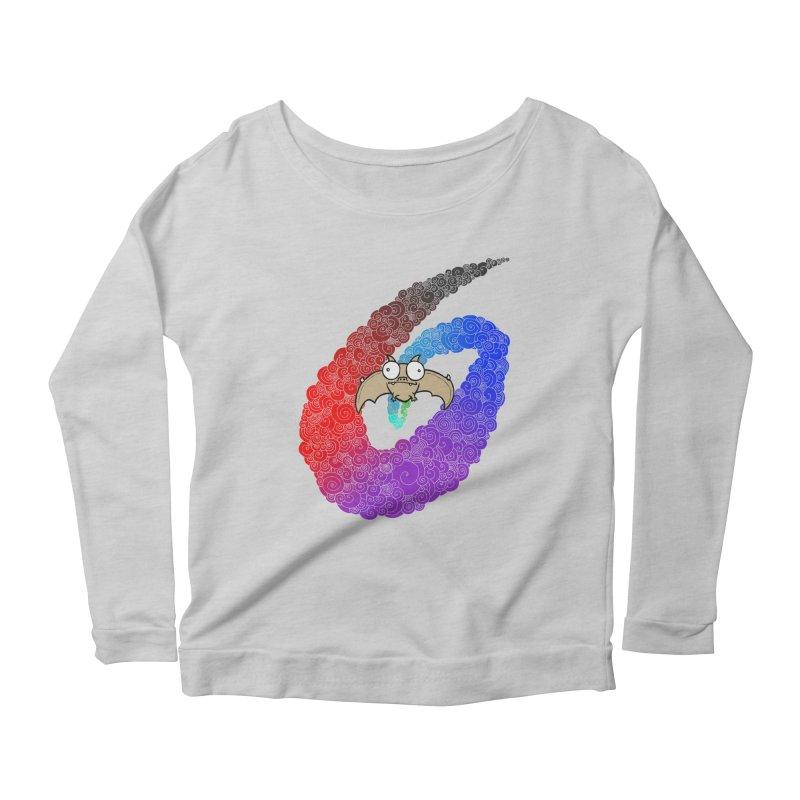 Bat Women's Scoop Neck Longsleeve T-Shirt by P. Calavara's Artist Shop