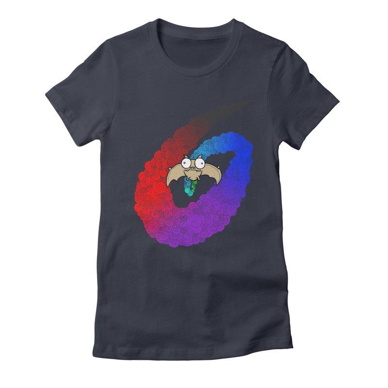 Bat Women's Fitted T-Shirt by P. Calavara's Artist Shop
