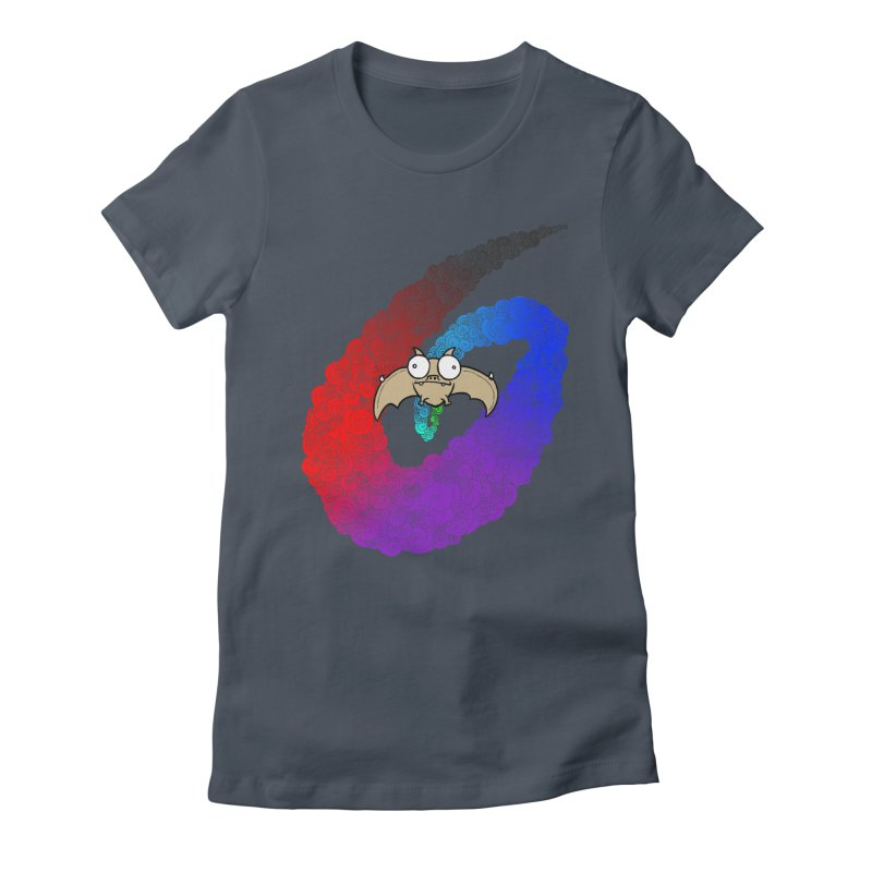 Bat Women's Fitted T-Shirt by P. Calavara's Artist Shop