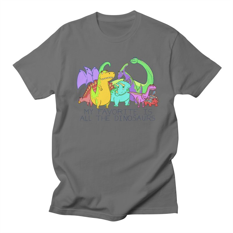 My Favorite Is All The Dinosaurs Men's Lounge Pants by P. Calavara's Artist Shop