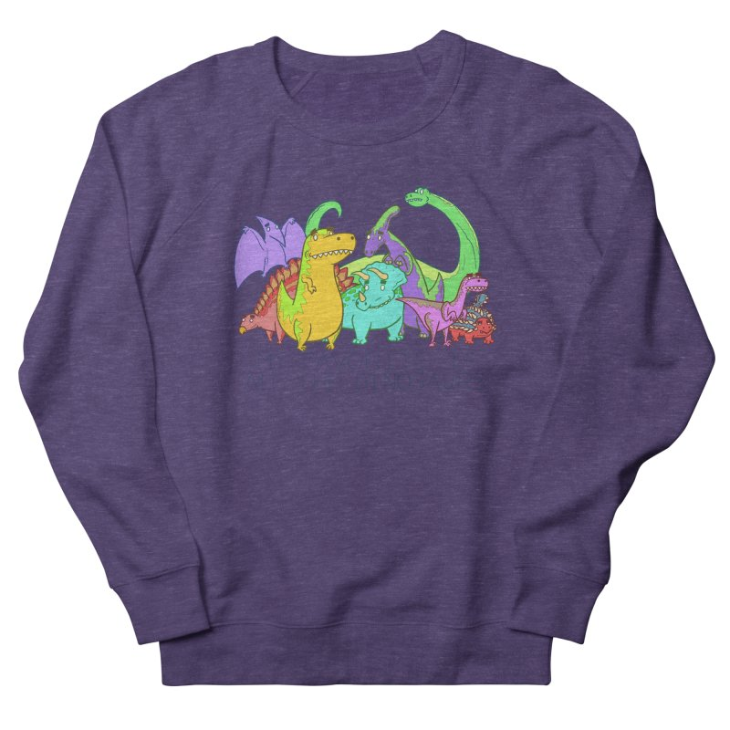 My Favorite Is All The Dinosaurs Women's Sweatshirt by P. Calavara's Artist Shop