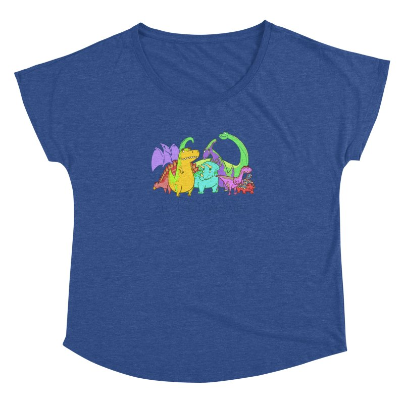 My Favorite Is All The Dinosaurs Women's Dolman by P. Calavara's Artist Shop