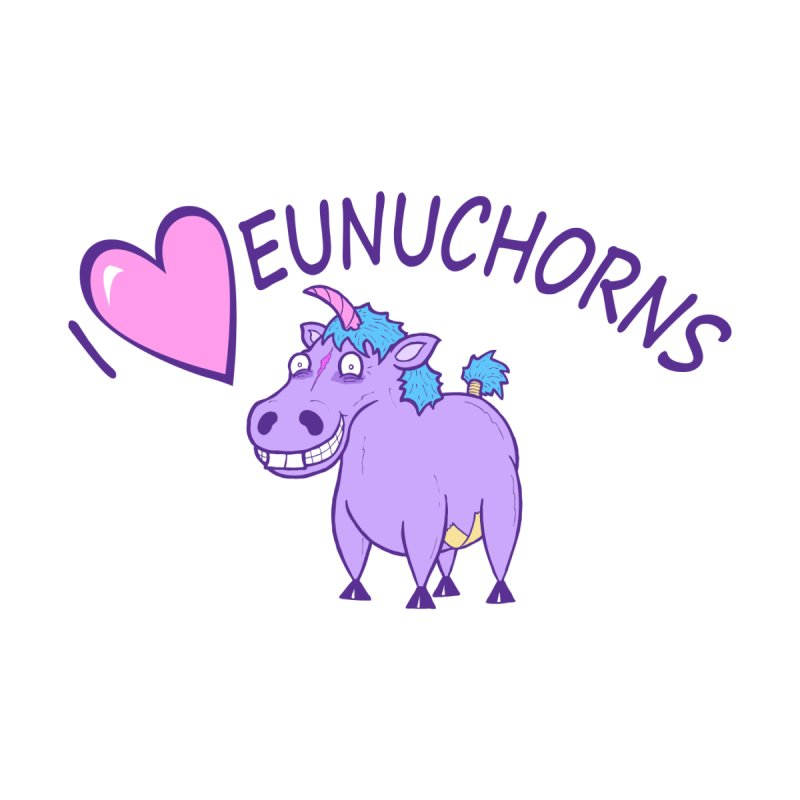 I (Heart) Eunuchorns Kids T-Shirt by P. Calavara's Artist Shop