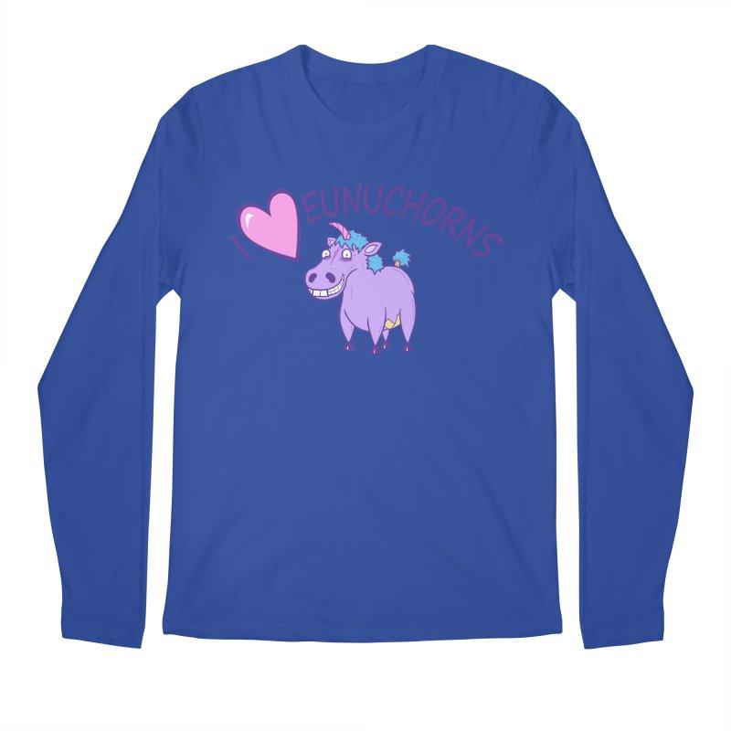 I (Heart) Eunuchorns Men's Regular Longsleeve T-Shirt by P. Calavara's Artist Shop