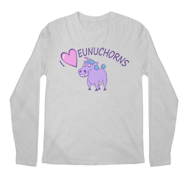 I (Heart) Eunuchorns Men's Longsleeve T-Shirt by P. Calavara's Artist Shop