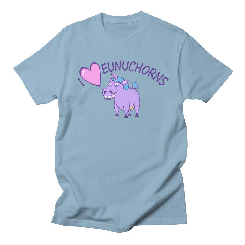 I (Heart) Eunuchorns Men's T-shirt by P. Calavara's Artist Shop
