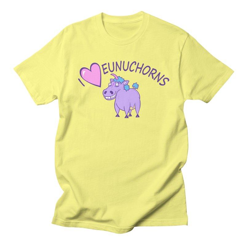 I (Heart) Eunuchorns Men's Regular T-Shirt by P. Calavara's Artist Shop