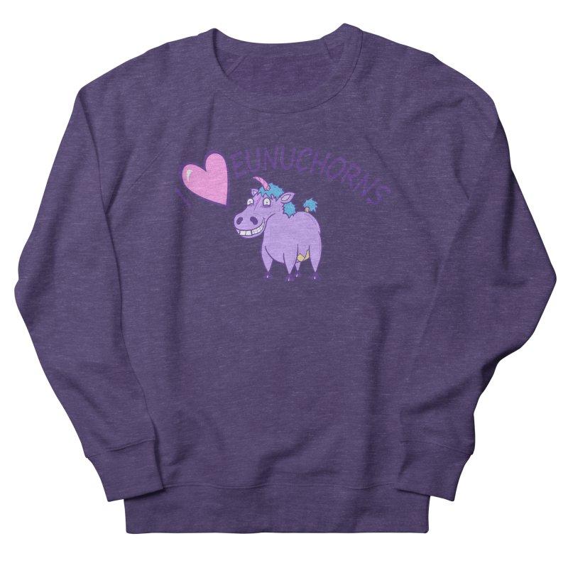 I (Heart) Eunuchorns Women's French Terry Sweatshirt by P. Calavara's Artist Shop