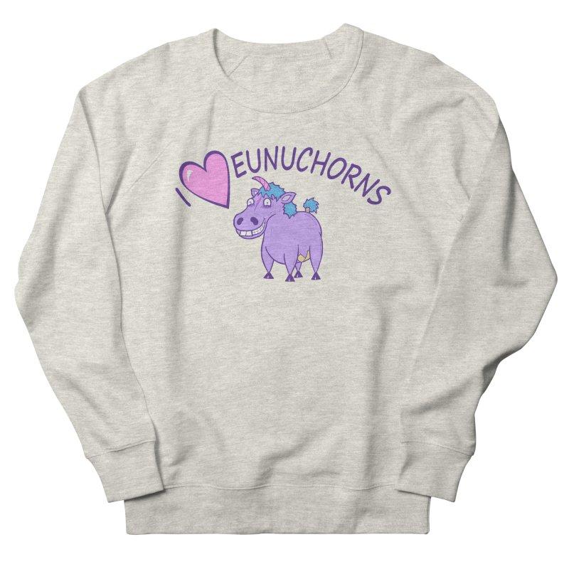 I (Heart) Eunuchorns Men's French Terry Sweatshirt by P. Calavara's Artist Shop