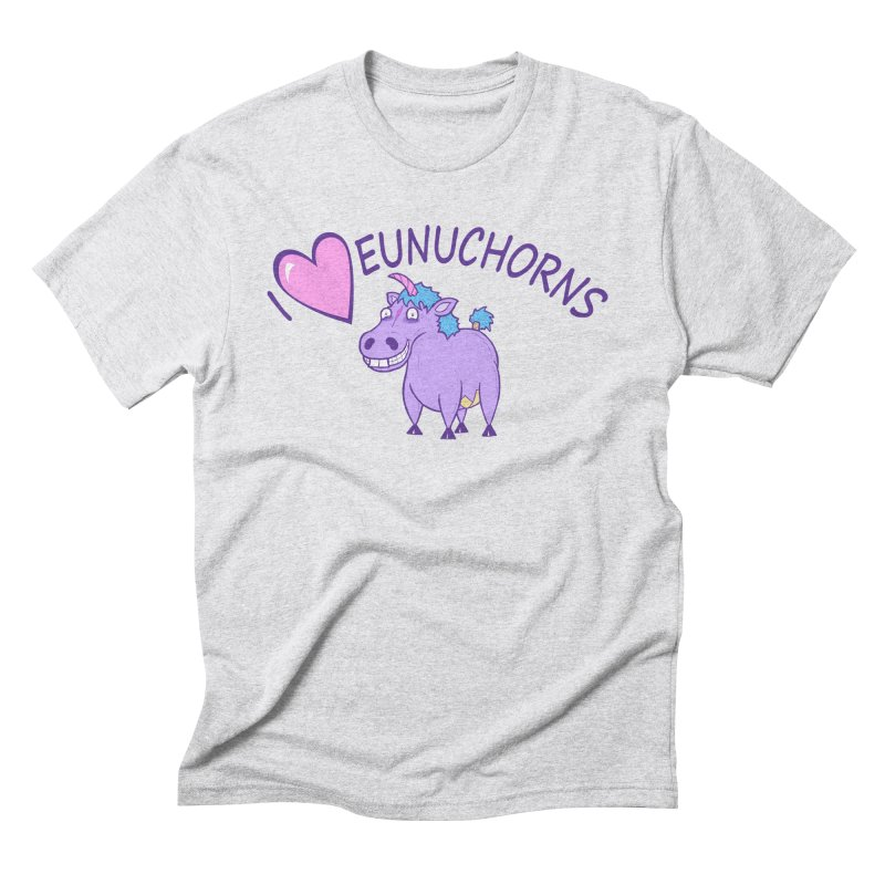 I (Heart) Eunuchorns Men's Triblend T-Shirt by P. Calavara's Artist Shop