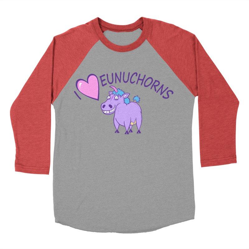 I (Heart) Eunuchorns Women's Baseball Triblend Longsleeve T-Shirt by P. Calavara's Artist Shop
