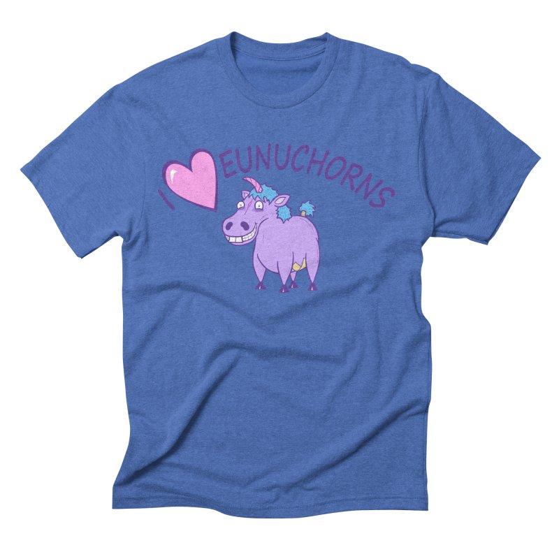 I (Heart) Eunuchorns Men's Triblend T-shirt by P. Calavara's Artist Shop