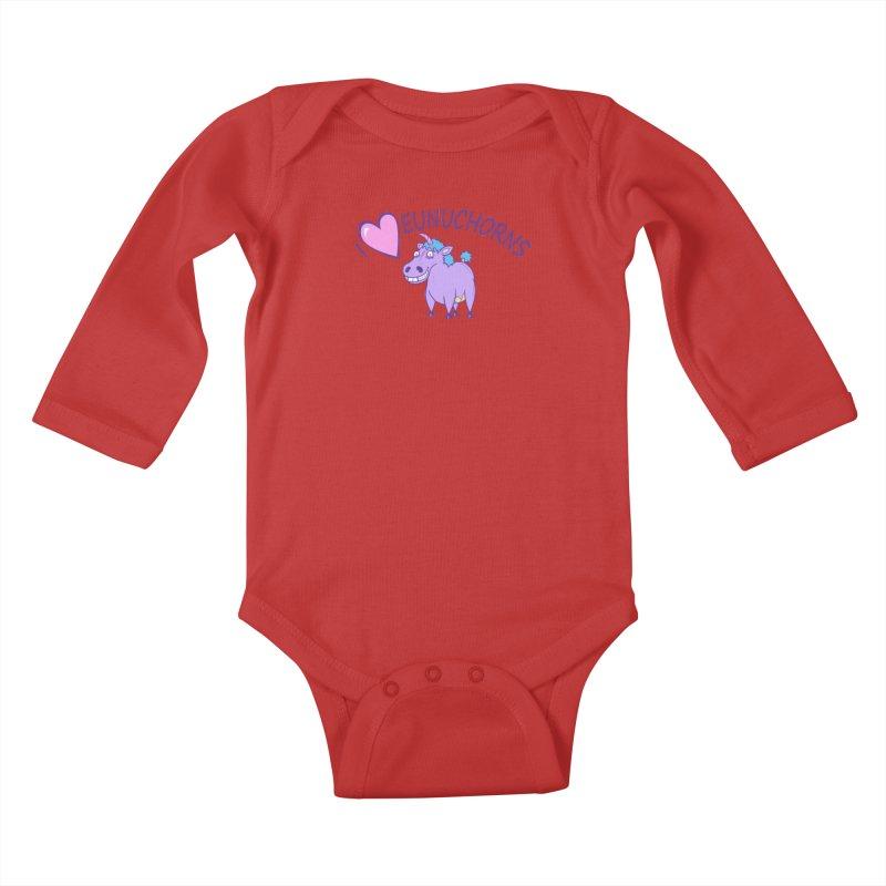 I (Heart) Eunuchorns Kids Baby Longsleeve Bodysuit by P. Calavara's Artist Shop
