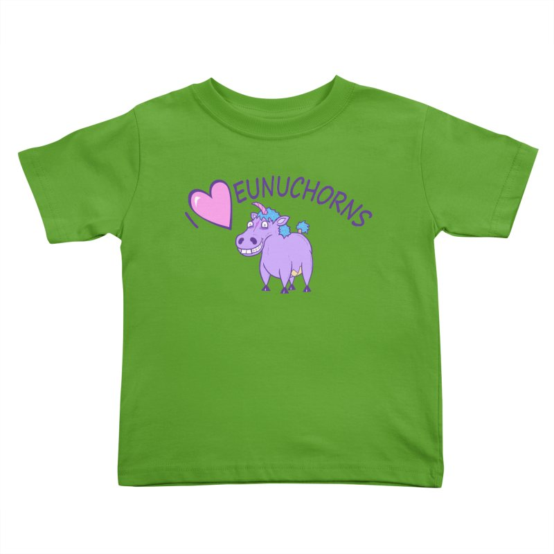 I (Heart) Eunuchorns Kids Toddler T-Shirt by P. Calavara's Artist Shop