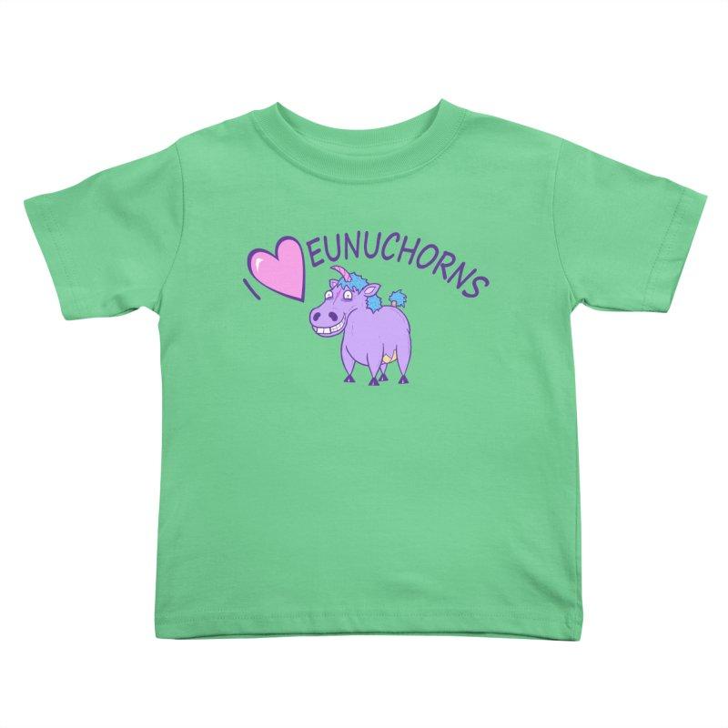 I (Heart) Eunuchorns Kids Toddler T-Shirt by P. Calavara's Artist Shop