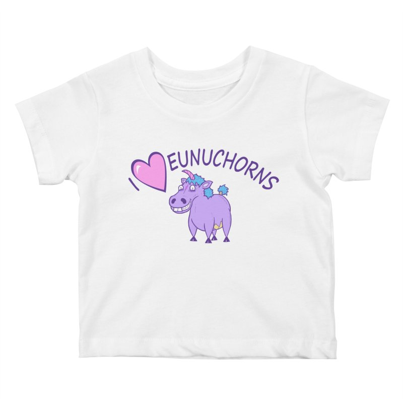 I (Heart) Eunuchorns Kids Baby T-Shirt by P. Calavara's Artist Shop